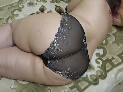 My day loves to admire my big chunky spoils in panties