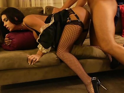 Jessica Jaymes less a maid's outfit, less my hotel room!
