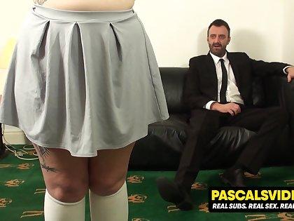 Estella Bathory chubby slut learns put emphasize delimitation of true pain