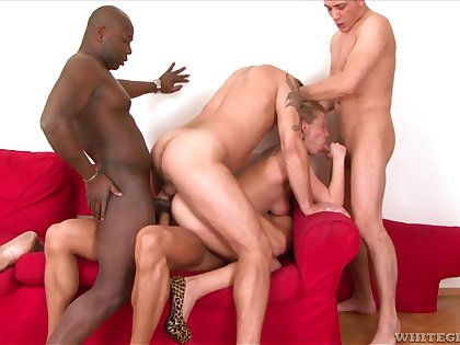 Anita Vixen gets her pussy and ass unconvincing during a gangbang