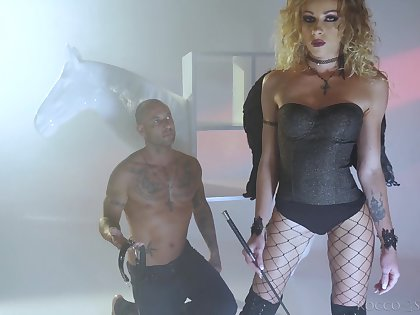 Frizzled French bitch Angel Emily is crazy about hardcore doggy anal fuck