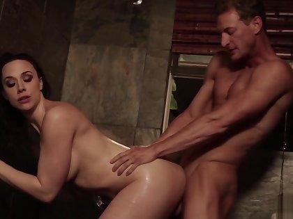 Sexy Brunette Loves Patriarch Men