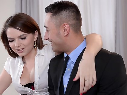 Marina Visconti gets fucked by suited man