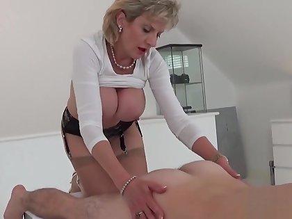 Unfaithful english mature gill ellis showcases her heavy boobies