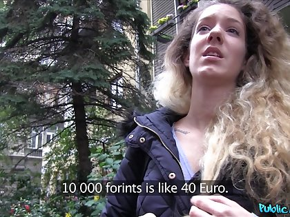 POV video of Hungarian hottie Monique Woods having sexual connection for money
