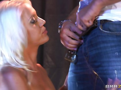 Stripper Kacey Villainess rides her added to his pole added to makes him cum