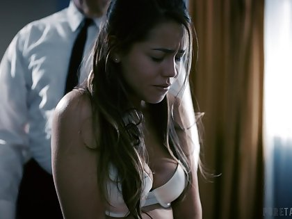Modest student Alina Lopez is punished by irregular old teacher