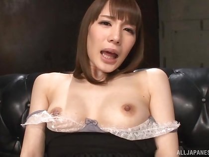 Solo model Suzumura Airi plays with her for detail tits and soaked pussy