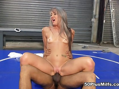 Big, black cock be worthwhile for along to little dear one skirt - Leilani Lei and Stallion - 50PlusMILFs