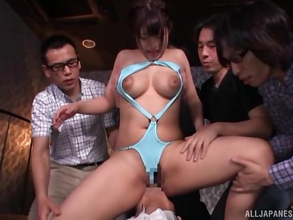 Nude prexy Japanese woman roughly fucked in serious gangbang