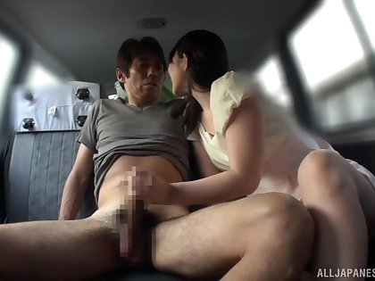 Back tush oral entertainment be advisable for a charming Japanese sex carve