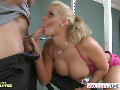 Busty free and easy sexy nympho Phoenix Marie is poked doggy and rides cock