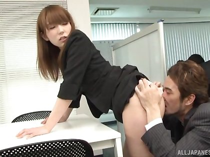 Ichika Kamihata teases her coworker in the designation before being fucked